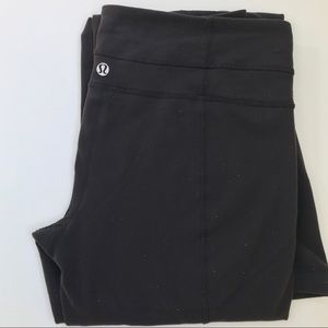 LuLuLemon black yoga pants size 8